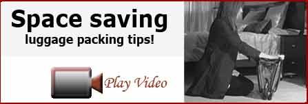 Space saving luggage packing tips